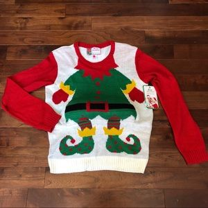 UGLY CHRISTMAS SWEATER Holiday Elf Belly NEW!